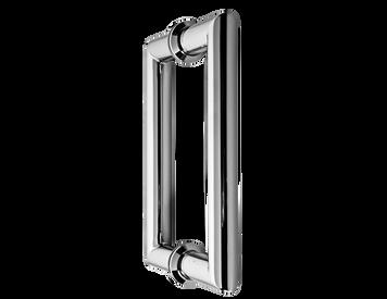 H6X6MTMBL Mitered Glass Door Handle (Matte Black)