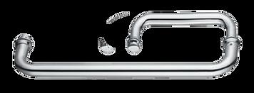 TB6X12CMBL Round Door Handle and Towel Bar (Matte Black)