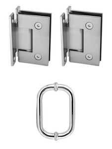 2 - H Plate Hinges & 1 - D shaped round handle
