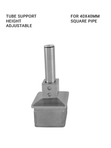 TS6HA40SQBS Tube support height adjustable for 40x40mm square tube