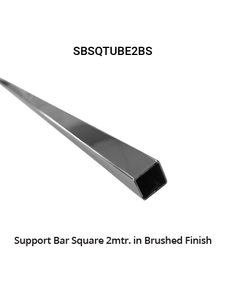 SBSQTUBE2BN Square Tube Only 2mtr in Brushed Finish