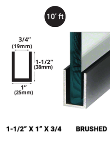 E3UC15X1BN10 Brushed Stainless 1-1/2 x 1 in 10' feet length