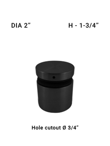"""SO486050175BL 2"""" Dia with 1-3/4"""" Height SS316"""