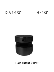 "SO48621505XBL 1-1/2"" Dia with 1/2"" Height SS316 in Matte Black"
