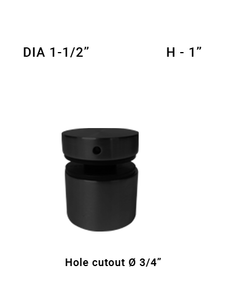 "SO48631510XBL 1-1/2"" Dia with 1"" Height in Matte Black Finish"