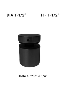 "SO48641515XBL 1-1/2"" Dia with 1-1/2"" Height in Matte Black"