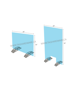 """Portable Barrier Acrylic Kit for 1/4"""" (6mm glass)"""