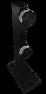 """PS6MINI0641MBL Mini Post Solid 12"""" Height in Matte Black"""