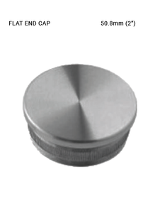 EC620350H00BS END CAP ROUND FLAT SS 316 FOR 50.8 MM DIA PIPE & 2.0 MM