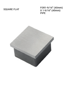 EC625040H00BS END CAP SQUARE FLAT SS 316 FOR 40 X 40 MM PIPE