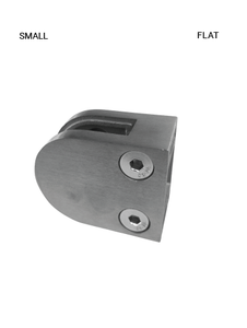 GC61000050RBS Flat GLASS CLAMP ROUND IN SS 316