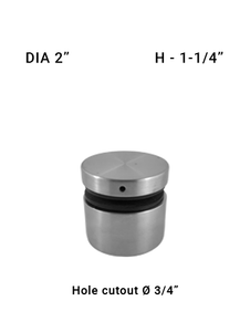 "SO680320125BS STAND-OFF WITH HOLE DIA 2"" X 1-1/4"" SS316  BSS"