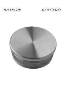 EC620142H00BS FLAT END CAP FOR 42.4mm HANDRAIL SS 316