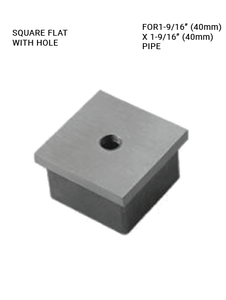 EC625140H00BSM8 SQUARE END CAP WITH HOLE IN SS316