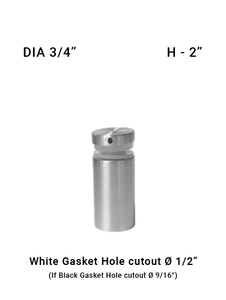 "SO68257520XBS 3/4"" Dia with 2"" Height SS316"