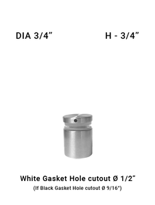 "SO682175075BS 3/4"" Dia with 3/4"" Height SS316"
