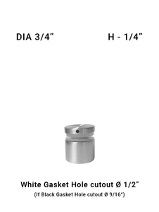 "SO681975025BS 3/4"" Dia with 1/4"" Height SS316"