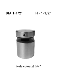 "SO68171515XBS 1-1/2"" Dia with 1-1/2"" Height SS316"