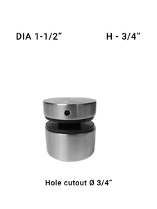 "SO681415075BS 1-1/2"" Dia with 3/4"" Height SS316"