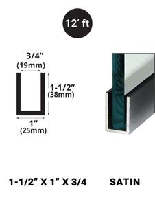 E3UC15X1SA12 Satin Anodized 1-1/2 x 1
