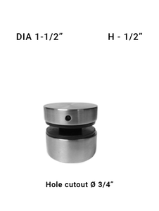 "SO681315050BS 1-1/2"" Dia with 1/2"" Height SS316"