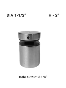 "SO68181520XBS  1-1/2"" Dia with 2"" Height SS316"
