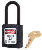 406 Thermoplastic Non-Conductive, Non-Magnetic, Non-Sparking Safety Padlock
