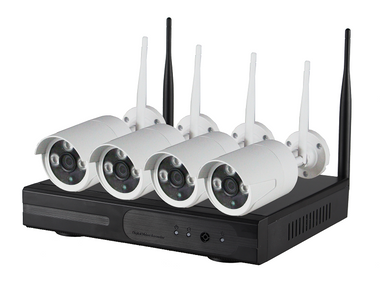 4 Channel Wireless NVR Kits w/ 1.3 Megapixel Cameras
