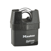 Master Lock No.6327 - 2-5/8in (67mm) Wide ProSeries Shrouded Laminated Steel Rekeyable Pin Tumbler Padlock