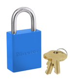"Blue Master Lock 6835 High Visibility Aluminum Safety Padlock (1-1/16"" shackle)"