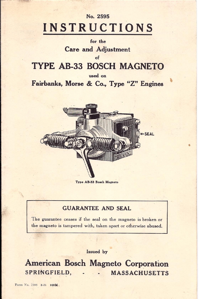 Fairbanks morse magneto free Manual