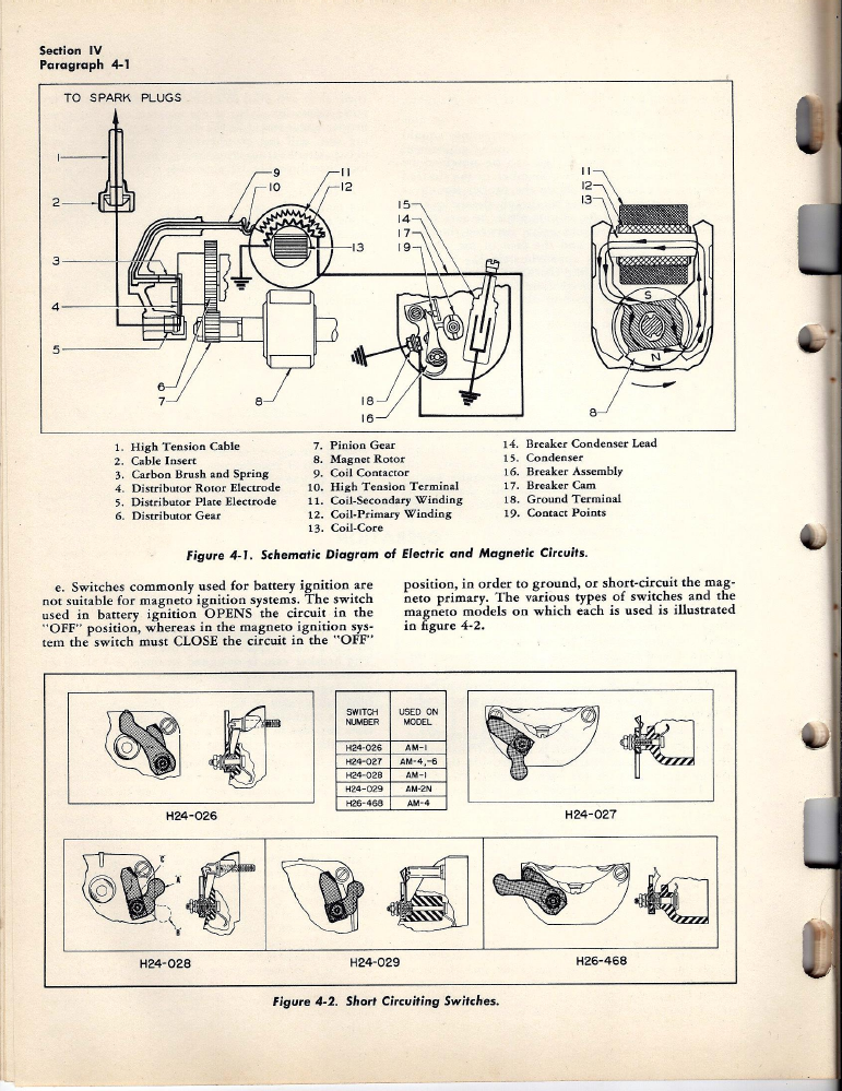 eisemann am magneto instuctions parts manual bendix trailer abs wiring diagram bendix magnetos cap wire diagram #3