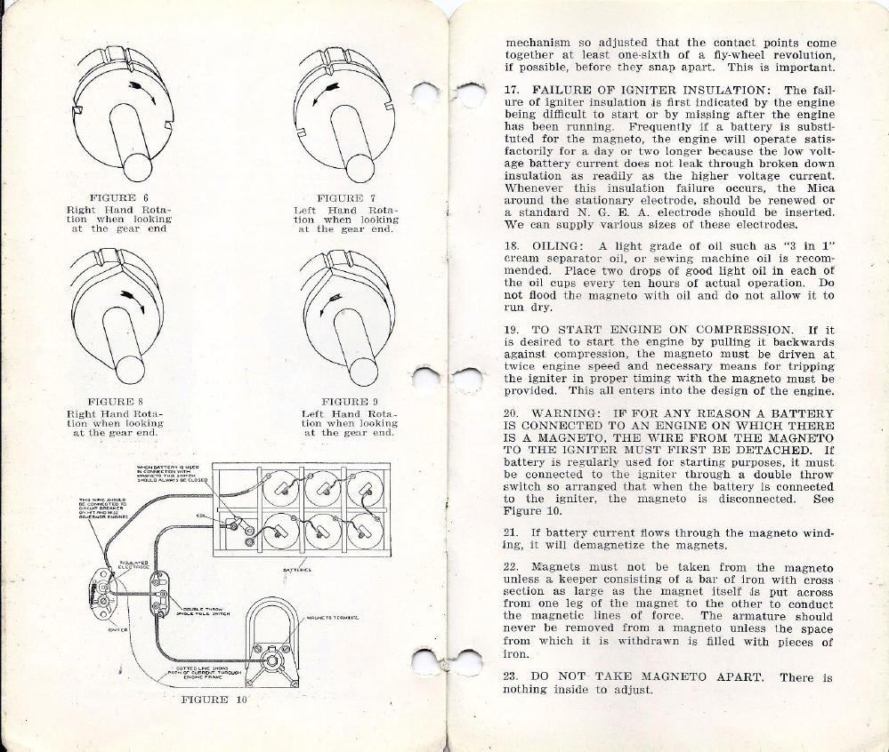 Bendix Scintilla magneto Timing worksheet