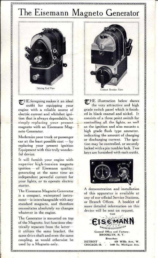 Eisemann M4G6 Magneto Generator Manual