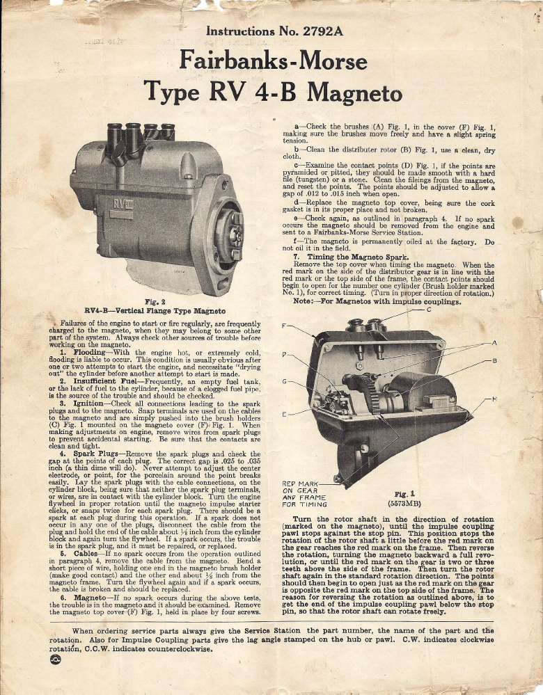 Fairbanks morse Magneto Free Manual on