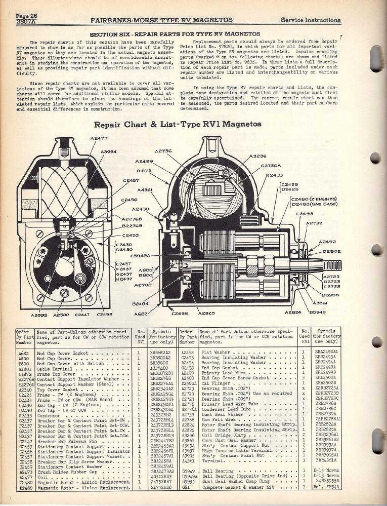 Fairbanks Morse Magneto Parts La Ca