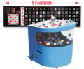 Professional Table Top Bingo Blower with Round Front, 5' Flashboard and Verifies