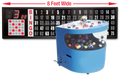 Professional Table Top Bingo Blower with Round Front, 8' Flashboard and Verifies