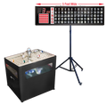 Professional Table Top bingo blower, 5 foot Flashboard, Stand with Verifier