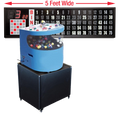 Professional Table Top Bingo Blower with Round Front, 5' Flashboard, Base and Verifies