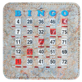Marble Design Bingo Shutter Cards 10 Pack