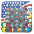 Patriotic Bingo Shutter Cards 10, Quick Clear