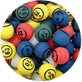 Solid Multi Color Ping Pong Bingo Balls