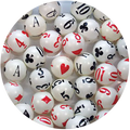 Playing Cards Bingo Balls
