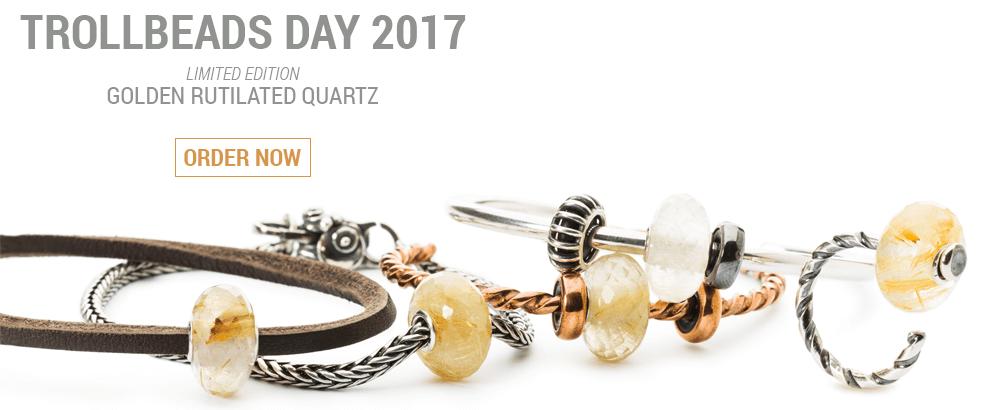 Trollbeads Day Bead Rutilated Quartz