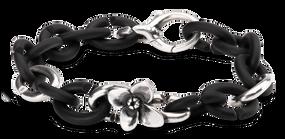 X Jewelry Flower Silver Bracelet