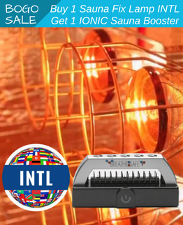 Buy 1 Sauna Fix international sauna lamp, get a free ionic sauna booster