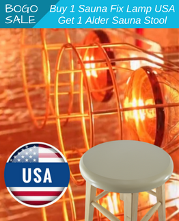 Sauna Fix 110v USA near infrared sauna lamp