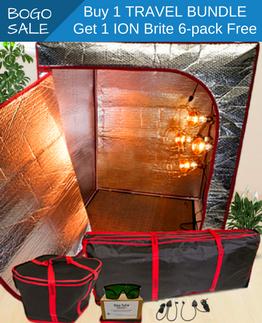 buy 1 sauna fix travel bundle, get a 6 pack ion brite free