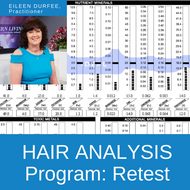 HTMA Hair Analysis Program hair retest.